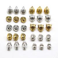 buda para hacer joyas al por mayor-10 unids Metal Charm Beads leopardo tibetano leopardo cabezas de león grano para encontrar la joyería que hace DIY pulsera hecha a mano accesorio