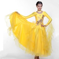 robe de danse de salon standard achat en gros de-Costume de danse moderne extra-large pour femme Costume de danse de salon standard Costumes de danse de salon MQ235