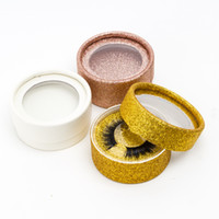 Wholesale round color paper for sale - Group buy Eyelash Round Paper Glitter Eyelash Box customer packaging Include Color Options Round Paper Box