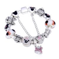 Wholesale murano snake pendants for sale - Group buy 925 Murano Mouse pendant Charm beads bracelet fit Pandora Cartoon bracelet jewelry