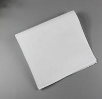 Wholesale ladies white handkerchiefs resale online - White handkerchief pure white handkerchief pure color small square cotton sweat towel plain handkerchief