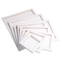 malerei holzrahmen großhandel-Weißer leerer quadratischer Künstler-Segeltuch-hölzerner Brett-Rahmen für grundierte Öl-Acrylfarbe 20x20cm