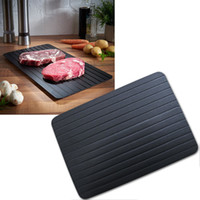 Wholesale home electricity - Defrost Tray Thaw Frozen Food Meat Fish In Minutes Home defrosting tray No Electricity Chemicals Microwave