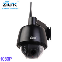 Wholesale speed dome camera waterproof - ZILNK 1080P Full HD PTZ Speed Dome 5x Optical Zoom Waterproof WiFi IP Camera Support TF Card Motion Detection ONVIF H.264 Black