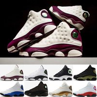 basketbol ayakkabıları ebadı 41 toptan satış-2018 Yeni 13 13 s erkek Hiper Kraliyet Saf Para Siyah Kedi Playoffs Hiper Donanma DMP basketbol ayakkabı 13 s spor ayakkabı Sneaker boyutu 41-47