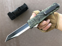 Wholesale tactical combat survival gear for sale - 2019 Combat Double Action Large Auto Knife mm EDC tool C Steel Blade pocket Knives Tactical Survival camping gear P413F R