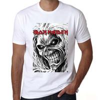 ingrosso vestiti da ragazza-Nuovi uomini di marca vestiti Moda Iron Maiden T-shirt da uomo manica corta Hip Hop Lettere da uomo Tshirt Casual Homme Top Tee