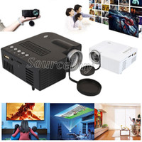 Wholesale video card gaming resale online - LED Projector UC28B Projector Portable USB Teaching Business Conference Office Factory Mini Home Theater Multimedia Support TF Card USB HDMI