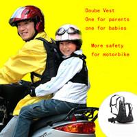 honda usada al por mayor-Arnés de seguridad para niños Niños Niños Niñas Asiento de seguridad Asiento trasero para andar en bicicleta Uso de motos Bebé Moto Mochila Cinturón 1-10 años