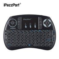 klavye renkleri toptan satış-IPazzPort Taşınabilir 2.4G Kablosuz Mini Arka 3 Renkler Klavye Android Smart TV için Touchpad Fare El Klavyeler ile