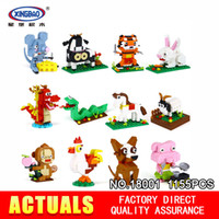 Wholesale toys for chinese children - XingBao 18001 1155Pcs The Chinese Zodiac Set Building Blocks Bricks Funny DIY Educational Toys For Children As Birthday Gifts