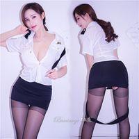 dfac92caf4fab7 Geschmack Unterwäsche Sexy Frau Polizist Uniform Verführung OL Beruf  Stewardess Kleidung Perspektive Anzug A928