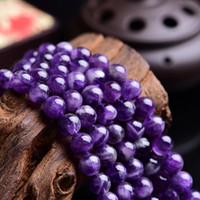 Wholesale amethyst loose beads - Natural Dreamy Dog Tooth Amethyst Stone Beads 6 8 10 12mm Purple Crystal Stone Loose Beads DIY Fashion Jewelry Making Bead