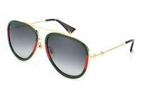 Wholesale standard sunglasses online - Free ship fashion Luxury brand evidence sunglasses retro vintage men brand designer shiny gold frame laser logo women top quality with
