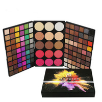 Wholesale nude eye shadow kits resale online - POPFEEL Eyeshadow Palette Color Blush Colors Makeup Kit Shimmer Matte Eye Shadow Powder Foundation Nude Eyeshadow Cosmetic Set