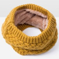 Wholesale Cowl Neck Men - Unisex Soft Knitted wool Neck Circle Scarves Snood Neck Circle Warm Winter Cowl Scarf Shawl 8 colors For women men NaroFace
