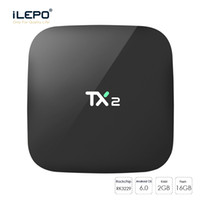Wholesale Cheapest Wholesalers Uk - Cheapest 2GB 16GB TX2 android 6.0 tv box Rockchip RK3229 quad core KD16.1 pre-loaded Netflix Youtube 4K stremaing media boxes