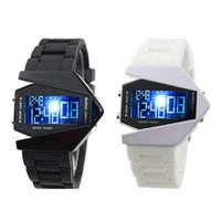 ingrosso orologi freschi-LED Smart Airplane Shape Watch Popolare Cool Led Watch Accessori per bambini Studente Orologio da polso