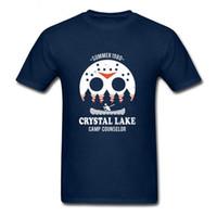 Wholesale horror shirts - Crystal Lake harajuku Tops horror halloween T-shirt Jason freddy T shirt women men Texas chainsaw The Massacre Machine Tee pullover