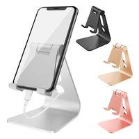 hücre montajı toptan satış-Ayarlanabilir Masaüstü Cradle Cep Telefonu iPhone Samsung 4-13 Inç Smartphone Tabletler Için Dock Montaj Standı Tutucu