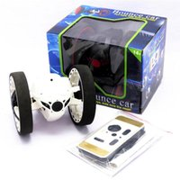 Wholesale led rc cars - RC Car Bounce Car PEG SJ88 2.4G Remote Control Toys Jumping with Flexible Wheels Rotation LED Night Lights RC Robot gift wholesale