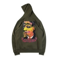 Wholesale portraits paintings resale online - Letter Brand Designer Portrait Oil Painting Hoodie Winter Thick Skateboard Star Hooded Sweatshirt Box Logo Men Women Street Hoody S XL