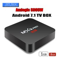 Wholesale mx2 tv box for sale - Group buy Factory MX2 MXQ PRO Amlogic S905W Quad Core Android TV BOX With Customized K Media Player OEM ODM