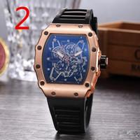 Wholesale watch woman leather skull - 2018 Luxury brand Fashion Skeleton Watches men or women Skull sport quartz watch Good Quality