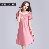 Plus Size Women Nightgown Nightwear Silk Nightgowns Sleepwear Nightdress  Night Dress Koszula Nocna Night Gown Nighties SY026 30 f414a2990628