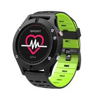 wasserdichte höhenmesseruhr großhandel-F5 intelligente Uhr GPS IP67 wasserdichte Herzfrequenzmessung Höhenmesser Barometer Thermometer Smart Watch Sport