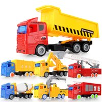 Wholesale toys for children trucks resale online - Children Car Model Toy Engineering Truck Fire Engine Crane Tipper Mixer Excavator for Kid Party Birthday Gift Collecting Decoration