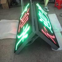ingrosso segno di colore principale-Adertising cartello segnaletico esterno a colori verde P10 segno singolo messaggio di colore