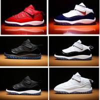 rote krippen großhandel-Midnight Navy 11s Neu geboren Baby Schuhe Gym rot Infant Sneaker Jungen Gamma Blau Concord Crib Schuhe Kinder Basketball Schuhe Kleinkind Trainer
