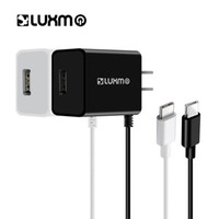 Wholesale Custom Usb Cables - LUXMO Type C Wall Charger 2.1A USB Type-C Charging Traveling Portable with Attached Cable for Samsung Galaxy S9 S8 Plus Huawei Phone