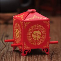 Wholesale bomboniere gift favours for sale - Group buy Red Wedding Sedan China Wedding Bridal Bomboniere Favour Cookie Chocolate Gift Candy Box Packing Box ZA5709