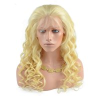 Wholesale white blonde human long wigs resale online - 613 Blonde Lace Front Human Hair Wigs For White Women Loose Wave Brazilian Virgin Hair Full Lace Wigs With Baby Hair Natural Hairline