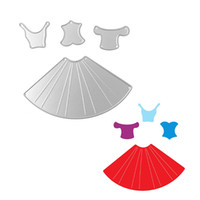 Wholesale craft dresses - Craft Template Decorative dress Steel Metal Cutting Embossing Dies Stencil for Scrap Album Paper Card Hand