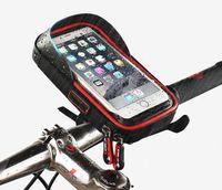 bisiklet için çanta tutacağı toptan satış-Orijinal TEKERLEK Evrensel Su Geçirmez Bisiklet Motosiklet Mobil Destek Standı Çantası 360 ° rotasyon yan açık braket tutucu dokunmatik hassasiyet