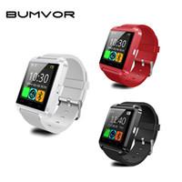erkekler için u8 akıllı saatler toptan satış-2018 BUMVOR Orijinal U8 Elektronik Akıllı Kol Saati Akıllı İzle Android Için Bilek İzle Erkekler Bluetooth Akıllı