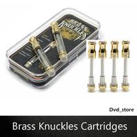 Wholesale intake kits - Brass Knuckles Cartridges Empty Vape Cartridges 0.5ml 1.0ml 4*1.0mm Intake Holes Fit 510 Thread Preheat VV Batteries Airis Tick Kit