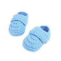 ingrosso scarpe casual-2018 Cute Crib Crochet Booties Casual Baby Handmade Knit Sock Infant Shoes Scarpe per bambini 1204