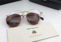 Wholesale Optical Frames Titanium For Woman - 2018 new luxury car brand Maybach sunglasses round frame sunglasses and optical glasses series top quality 18K titanium gold design for men