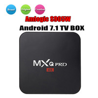 lecteur multimédia pc achat en gros de-MXQ Pro Android 7.1 TV Box Amlogic S905W Quad Core 4K HD Smart Mini PC 1G 8G Wifi H.265 Lecteur multimédia intelligent