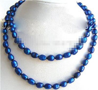 Wholesale cs day for sale - Group buy YH CS gt AMAZING quot mm blue natural freshwater pearls necklace a