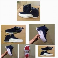 Wholesale band frequency for sale - 12 International Flight casual shoe casual Shoes ovo white Flu Game UNC Gym red taxi blue white high frequency Suede shoes7