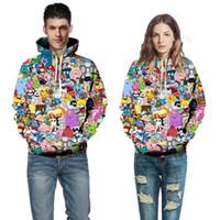 чайное тело оптовых-Creative 3D full body print hoodies, Mario, , Meteorite, Jesus drinking , couple digital printing hoodies