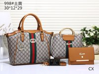 Wholesale media bear - 2018 Hot Brand Totes Clutch Bag Women Designer Handbag FashionTrend Leisure Bear Four Sets Handbags Crossbody Bags Shoulder Messenger Bags A