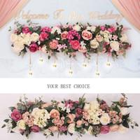 decorações de arco venda por atacado-Flor Artificial Europeu Longo Fileira Flores Arco de Casamento Chumbo Todos Os Vários Tipos de Decoração Para Casa Hotel Partido Decor