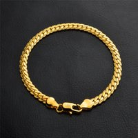Wholesale wholesale chunky jewellery - 18K Gold Silver chain Bracelet plated chunk bracelet chunky bracelets Men Jewelry mens jewellery Man fashion accessories wholesale