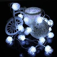 productos de decoración de iluminación al por mayor-5m 40 Led Año Nuevo Productos Pine Cone String Fairy Lights Año Nuevo Navidad Tree Garland Christmas Tree Decorations For Home